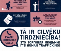 Informative posters about the types of human trafficking will be placed in the trains of joint-stock company