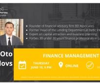 10. jūnijā notiks attālinātā lekcija par finanšu pārvaldību